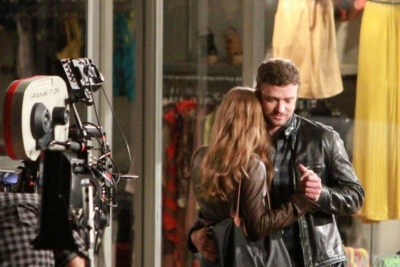 Justin Timberlake e Amy Adams sul set di Trouble with the curve