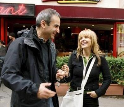 Olivier Assayas e Juliette Binoche sul set di L'Heure D'Été (2009)