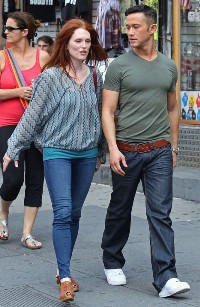 joseph gordon-levitt e julianne moore sul set di Don Jon's Addiction