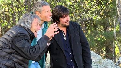carlo vanzina sul set di Mai Stati Uniti con Giovanni Vernia e Ricky Memphis