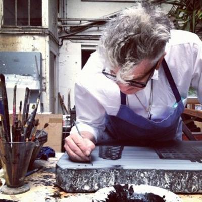 David Lynch al lavoro sulle litografie
