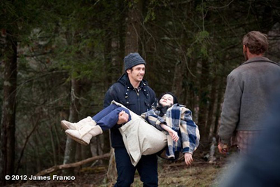 James Franco sul set di CHILD OF GOD, da Cormac McCarthy
