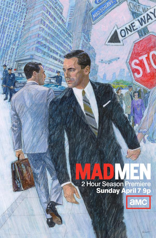 L'arte dei poster per il cinema: Mad Men, illustrazione di Brian Sanders