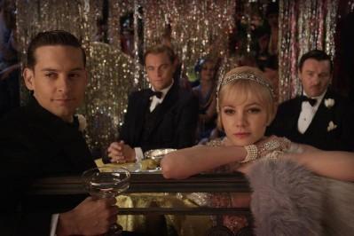 tobey maguire, carey mulligan, leonardo di caprio e joel edgerton in Il grande Gatsby