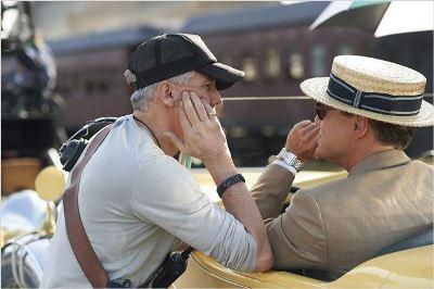 Baz Luhrmann e Leonardo Di Caprio sul set di The Great Gatsby