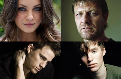 Mila Kunis, Sean bean, Eddie Redmayne, Channing Tatum - nel cast di Jupiter Ascending