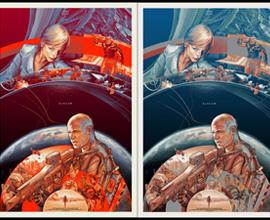 Poster di Martin Ansin per ELYSIUM di Neill Blomkamp