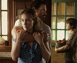 Kate Winslet, Josh Brolin, Gattlin Griffith, prima foto ufficiale di LABOR DAY