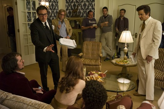 David O. Russell sul set di American Hustle