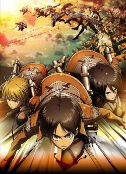 Eren e gli eroici compagni in azione