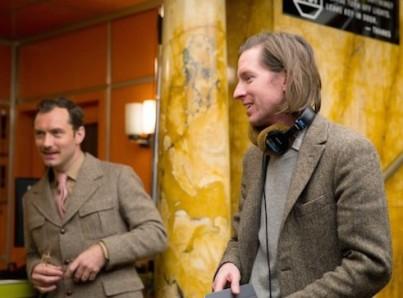 W. Anderson sul set di Grand Budapest Hotel